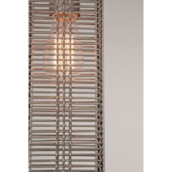 Shown in None, Exposed Lamping, Metallic Beige Silver finish