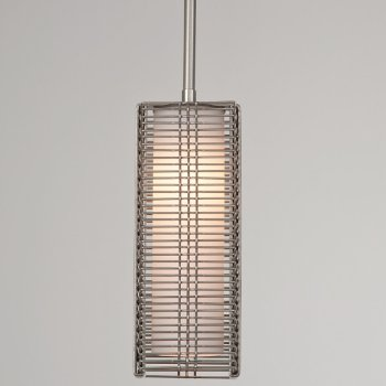 Shown in Frosted Glass shade, Metallic Beige Silver finish