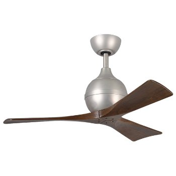 Shown in Brushed Nickel finish, Walnut Blades, 42 inch