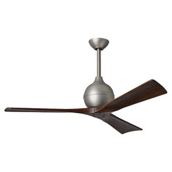 Shown in Brushed Nickel finish, Walnut Blades, 52 inch