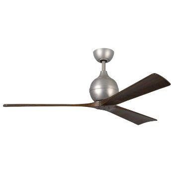 Shown in Brushed Nickel finish, Walnut Blades, 60 inch