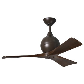 Shown in Textured Bronze finish, Walnut Blades, 42 inch