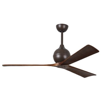 Shown in Textured Bronze finish, Walnut Blades, 60 inch