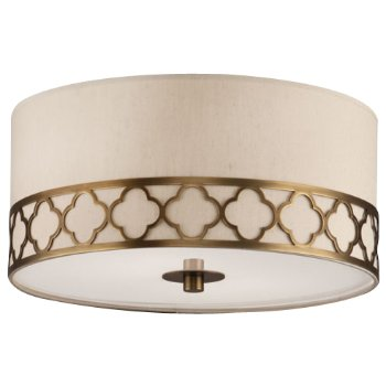Shown in Weathered Brass with Taupe Dupoini shade