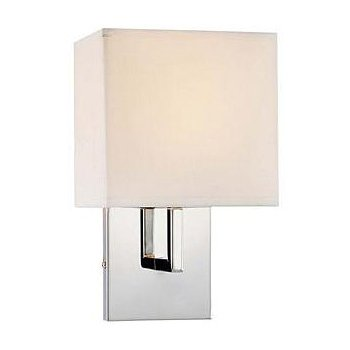 Fabric Wall Sconce (Chrome/White) - OPEN BOX RETURN
