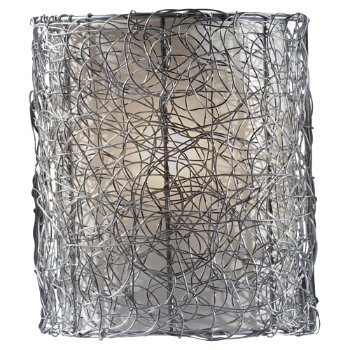 Wired Wall Sconce (Silver/Brushed Steel) - OPEN BOX RETURN