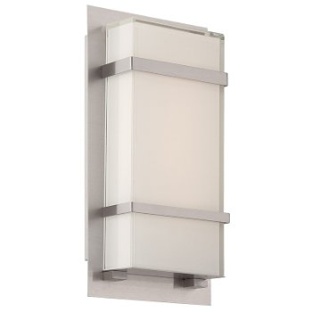 Phantom indoor outdoor led wall sconce by modern forms at for Contemporary exterior wall lights