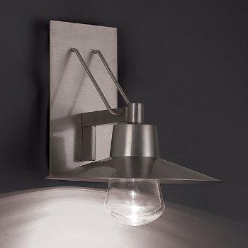 Shown in Brushed Aluminum finish, Large size