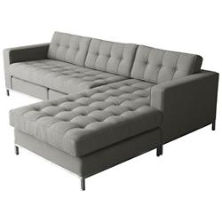 Jane Bi-Sectional Sofa - Stainless Steel Base