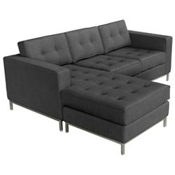 Jane Loft Bi-Sectional Sofa - Stainless Steel Base