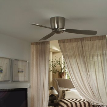 Shown in Brushed Nickel finish with Brushed Nickel blades, Light Kit 52