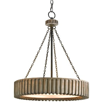 Greyledge Chandelier (Old Iron and Washed Gray) - OPEN BOX RETURN
