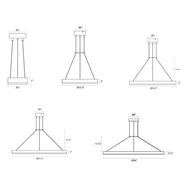 Corona LED Ring Pendant Light