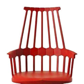 Shown in Orangy Red seat detail