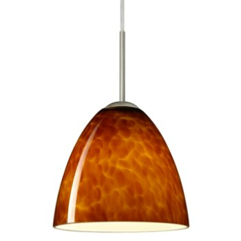 Vila Pendant (Amber Cloud/Satin Nickel/Flat) - OPEN BOX RETURN