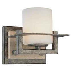 Compositions Wall Sconce 6461-273 (Iron/Stone) - OPEN BOX