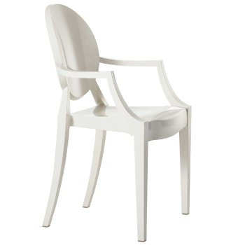 Louis Ghost Armchair by Kartell (White) - OPEN BOX RETURN