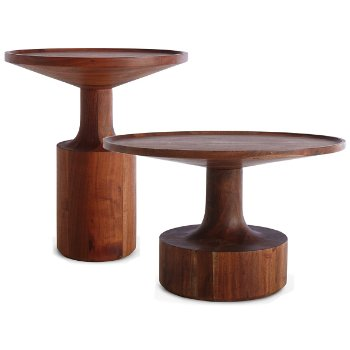 Turn Tall Side Table with Turn Coffee Table