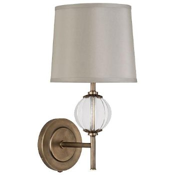 Latitude 3374 Wall Sconce (Aged Brass/Oyster Grey) - OPEN BOX RETURN