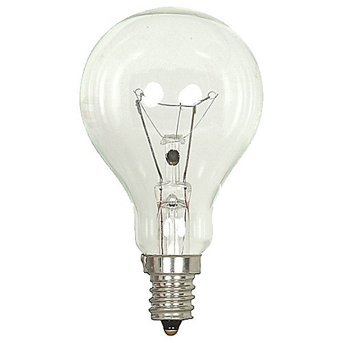 Ceiling fan bulbs ceiling fan light bulbs at lumens 40w 130v a15 e12 clear bulb aloadofball Choice Image