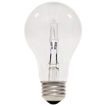 43W 120V A19 E26 Clear Halogen Bulb (2-PACK)