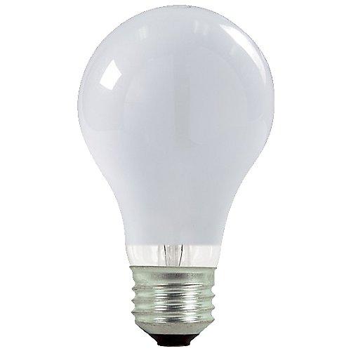 53w 120v a19 e26 white halogen bulb 2 pack by bulbrite at lumens com