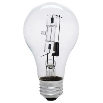 Perfect 72W 120V A19 E26 Clear Halogen Bulb (2 PACK) Photo