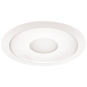 "6"" Frosted Lens with Clear Center Shower Trim"