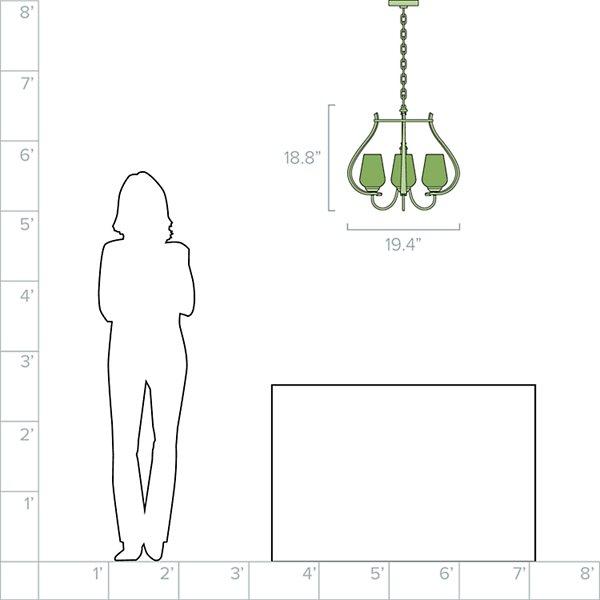 Flora 3-Light Chandelier