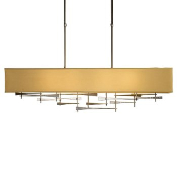 Shown in Burnished Steel finish, Doeskin Micro-Suede Shade color
