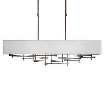 Shown in Burnished Steel  finish,  Shade Color Light Grey