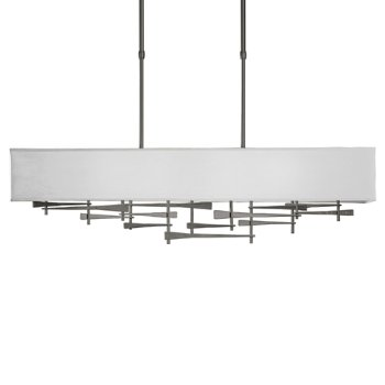 Shown in Natural Iron  finish,  Shade Color Light Grey
