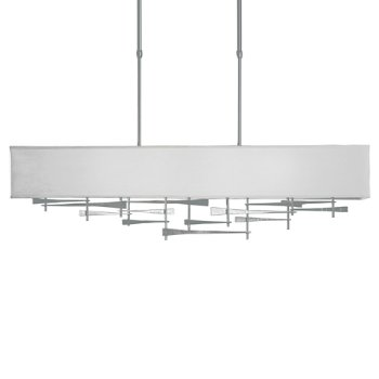 Shown in Vintage Platinum  finish,  Shade Color Light Grey