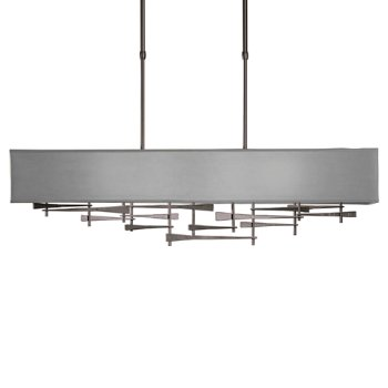 Shown in Burnished Steel  finish,  Shade Color Medium Grey
