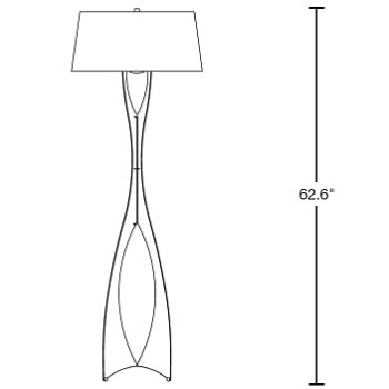 Moreau Floor Lamp by Hubbardton Forge at Lumens.com