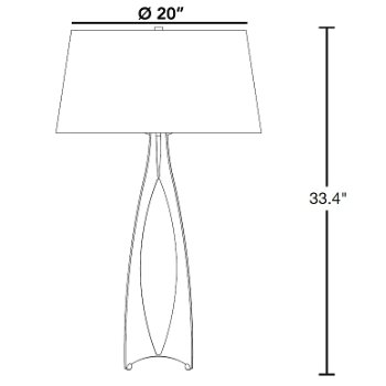 Moreau Tall Table Lamp By Hubbardton Forge At Lumens Com