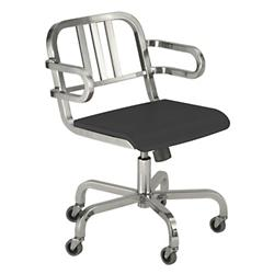Nine-0 Swivel Armchair - 3-Bar Back