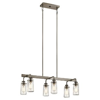 Shown in Classic Pewter finish, 6 Light