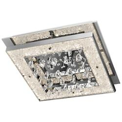 Large Crushed Ice LED Flushmount