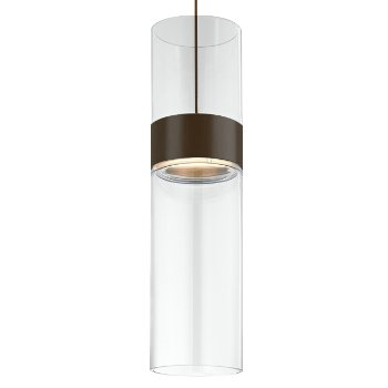 Shown in Clear Top shade with Clear Bottom shade, Antique Bronze with Antique Bronze finish