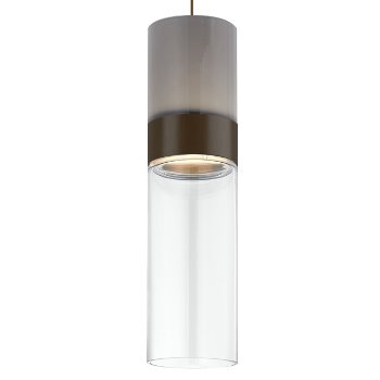 Shown in Smoke Top shade with Clear Bottom shade, Antique Bronze with Antique Bronze finish