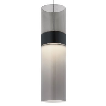 Shown in Transparent Smoke Top shade with Smoke Bottom shade, Black with Satin Nickel finish