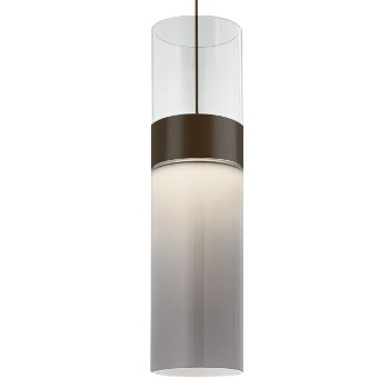 Shown in Clear Top shade with Smoke Bottom shade, Antique Bronze with Antique Bronze finish