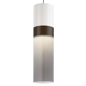 Shown in White Top shade with Smoke Bottom shade, Antique Bronze with Antique Bronze finish