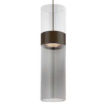Shown in Clear Top shade with Transparent Smoke Bottom shade, Antique Bronze with Antique Bronze finish