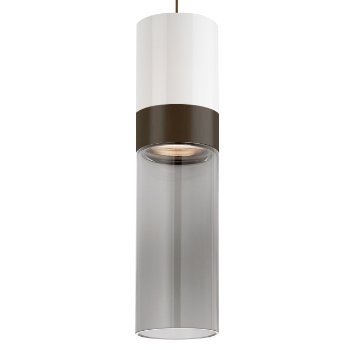 Shown in White Top shade with Transparent Smoke Bottom shade, Antique Bronze with Antique Bronze finish