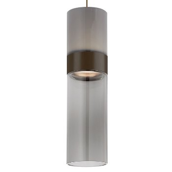 Shown in Smoke Top shade with Transparent Smoke Bottom shade, Antique Bronze with Antique Bronze finish