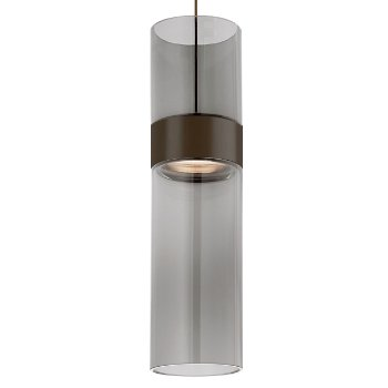 Shown in Transparent Smoke Top shade with Transparent Smoke Bottom shade, Antique Bronze with Antique Bronze finish