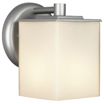 Midnight Outdoor Wall Sconce Square (Silver) - OPEN BOX
