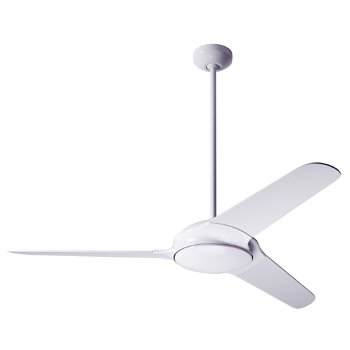 Shown in Matte Nickel finish with Bamboo blades, Fluorescent light